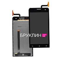 Оригинальный дисплей для мобильного телефона Asus Zenfone 4/A400CG, черный, с тачскрином / Экран для Асус