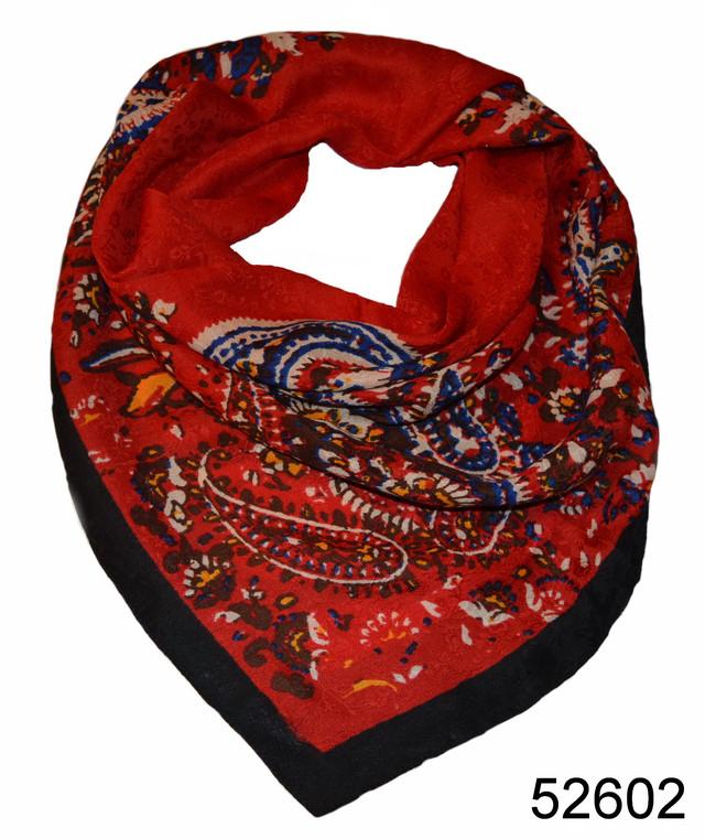 Турецкий женский платок красный 2