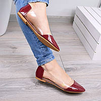 Балетки женские Vendy бордо лак, обувь женская