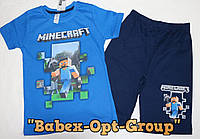 "Летний костюм на мальчика ""Майкрафт"" (футболка+шорты) 98,104,110,116 см 100 % хлопок"