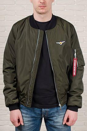 Мужская куртка бомбер Olymp цвета хаки, фото 2
