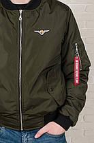 Мужская куртка бомбер Olymp цвета хаки, фото 3