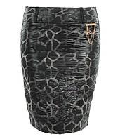Юбка Черепашка(ДЛ) черно белая