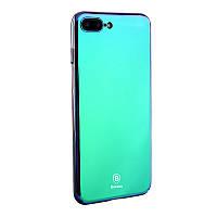 Чехол Baseus Glass Case For iPhone 7 Фиолетово-синий