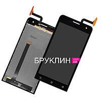 Оригинальный дисплей для мобильного телефона Asus Zenfone 5 Lite/A502CG, черный, с тачскрином / Экран для Асус