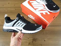 Кроссовки Nike Air Presto черно-белые топ реплика