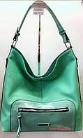 Мягкая женская сумка с передним карманом