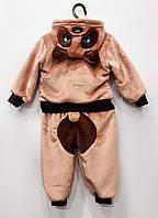 Махровый костюм Мишка (светло-коричневый), вельсофт