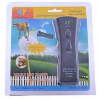 Ультразвуковой отпугиватель дрессировщик собак c с фонарем ZF-853