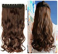 Волосы на заколках затылочная прядь волна №4/30 длина 55см