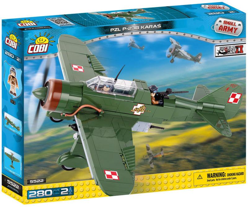 Конструктор Самолет PZL Карась P-23B COBI Вторая Мировая Война (COBI-5522)