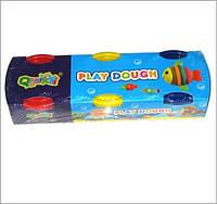 "Тесто 2061 для лепки 3цвета х60г в баночках ""Play Dough"""