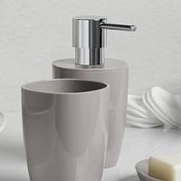 Дозатор для жидкого мыла SPIRELLA PURE серый, мятный, белый