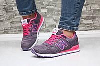 Кроссовки женские New Balance фиолетовые с розовым, спортивная обувь