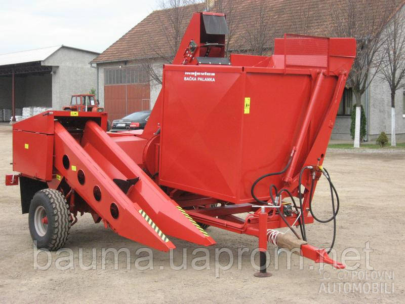 MAJEVICA-1R однорядный прицепной комбайн для уборки кукурузы в початках
