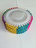 Булавки шарик № 4 MIX, швейные булавки 480 шт цена за 12 пластинок по 40 шт