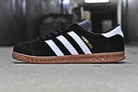 Кроссовки Adidas Hamburg Черные Натуральная замша