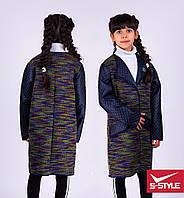 Весеннее пальто для девочки без капюшона