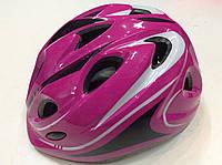 Шлем детский малиновый для роликов, скейтов, велосипедов с регулировкой по объему головы