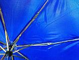 Зонт однотонный механика малиновый, фото 7