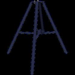 Тринога для стойки телескопической опалубки перекрытий
