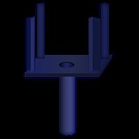Корона-головка (унивилка) для стойки опалубки перекрытий