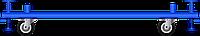Колесная база для вышки-туры 1,7х0,8