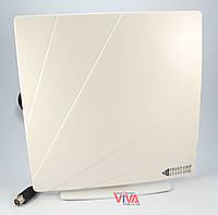 Комнатная ТВ антенна ARU-01 Белая (для Т2)