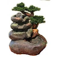 Фонтан большой садовый декоративный Круглый камень шарик 568 высота под 36 см ширирна 35см