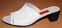 Летние сабо кожаные на каблуке, летняя женская обувь от производителя модель СТЛ11К