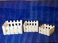 Кашпо деревянное заборчик квадратный S-3