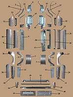 Кузовщина,Железо рем вставки кузова Газель,Соболь,Дуэт (Газ 3302,2705,2752,33023)