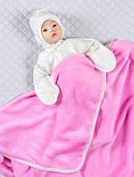 Детский плед (велсофт) розовый