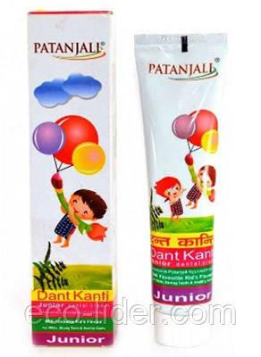Детская зубная паста Дант Канти Патанджали, Patanjali Dant Kanti Junior Dental Cream 100 мл.