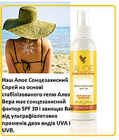 Натуральный Алоэ Солнцезащитный Спрей, Форевер, США, Aloe Sunscreen Spray SPF30, 178 мл