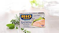 Лосось в оливковом масле  Rio Salmone All'Olio di oliva (копченые филе лосося) 150g