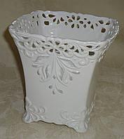 Керамический фарфоровый горшок  квадрат большой, фото 1