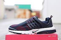 Мужские кроссовки Nike air presto темно синий с красным
