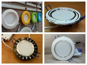 Светодиодные панели цветные, с алюминиевыми ободами