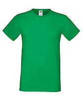 Классная молодежная летняя футболка ярко-зеленого цвета