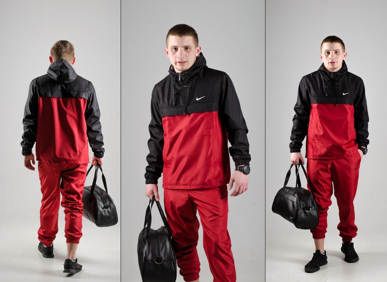 Анорак Nike (черно-красный), куртка, ветровка