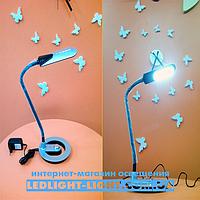 """Светодиодная настольная лампа """"Lumen"""" TL 1392 6W, цвет - черный, на подставке."""