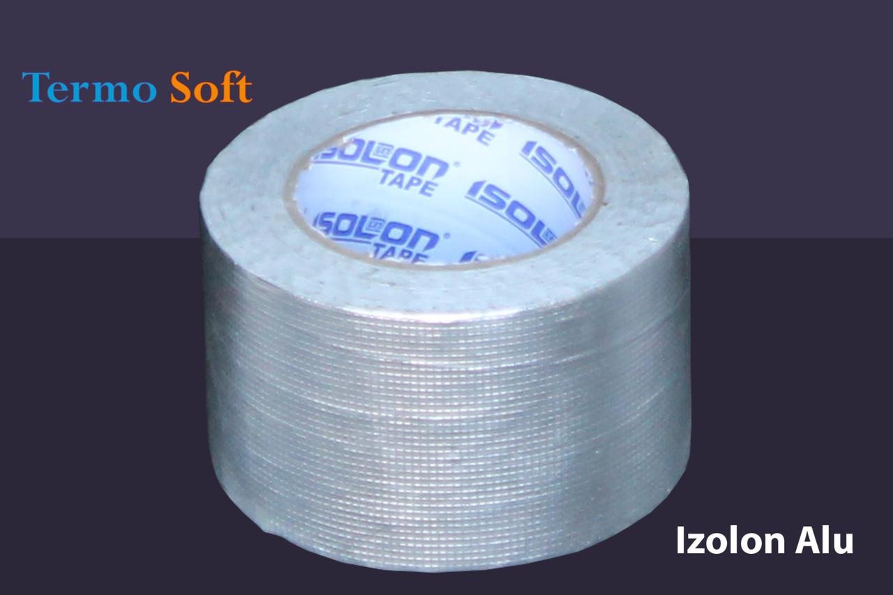 Скотч алюминиевый армированный Izolon Alu 75мм*20м