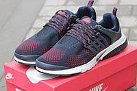 Мужские кроссовки Nike Air Presto, плотная сетка, синие  / кроссовки для бега мужские Найк Аир Престо, легкие