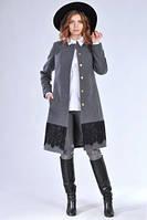 Классическое женское замшевое пальто рост с 44 до 48