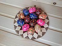 Деревянные расписные яйца (писанки) 40х30, крупная роспись