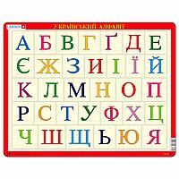 Пазл-вкладыш Азбука (украинская), серия МАКСИ, Larsen