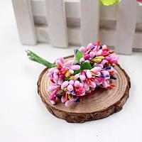Тычинки для цветочного венка разноцветный микс (розовые), букетик из 12 соцветий, фото 1