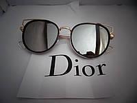 Модные солнцезащитные очки  Dior, серые