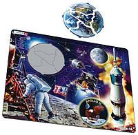 """Пазл-вкладыш Путешествие на Луну """"Аполлон-11"""", серия МАКСИ, Larsen, фото 1"""